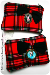 Estuches tela escocesa