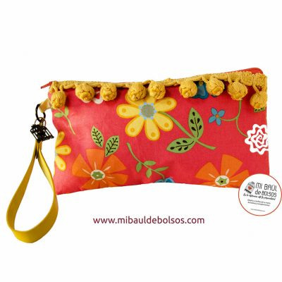Cartera-de-mano-Flower-Power