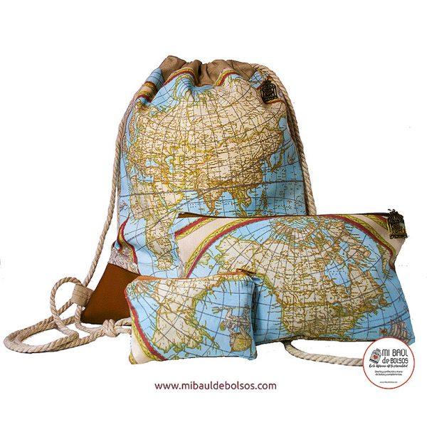 Conjunto-mochila-mapamundi-azul