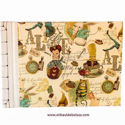 Cuaderno encuadernación japonesa Alicia