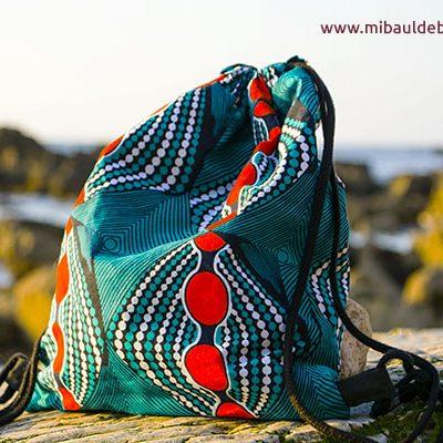 Mochila tela africana