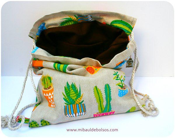 Mochila cactus interior