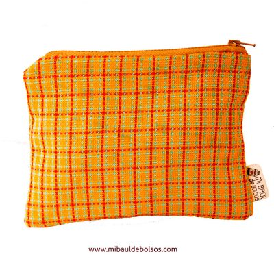 Monedero-cuadros-amarillo