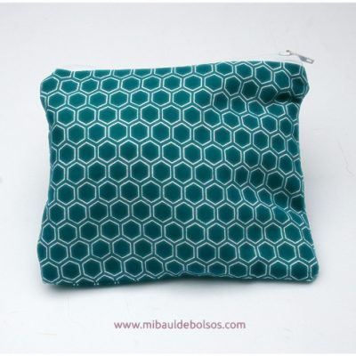 Monedero tela japonesa turquesa