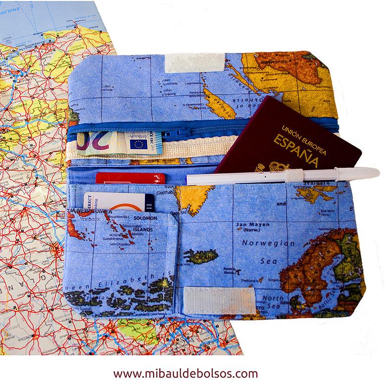 Pasaportera mapamundi