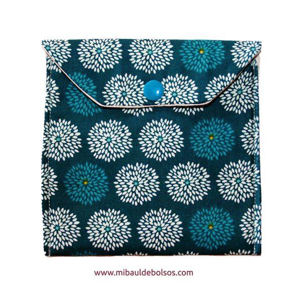 Portamascarillas-Flores-verde